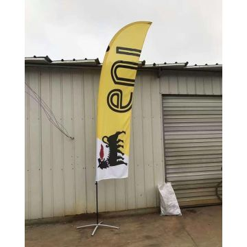 Polyester Dicetak 2 Sided 15FT Feather Flag