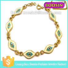 Pulseira de joias personalizadas Infinity Gold Hamsa Evil Eye para homens