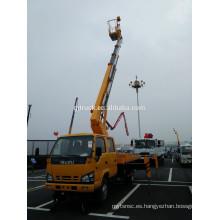 Plataforma de trabajo telescópica de acceso aéreo montada en camión / Plataforma de plataforma con plataforma de 28 m de altura Soporte aislante y brazo aislado