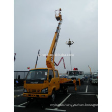 endable and Retractable aerial working platform truck with 28M height Insulating carrier and insulated arm
