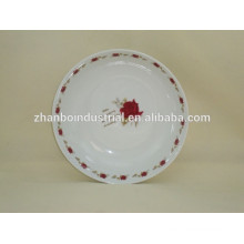 Porcelain fruit plate with decal