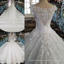 LS00158 de hombro peplum último decente appliques flores de tela para las mujeres más tamaño novia vestido de novia blanco