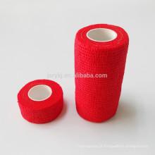 Diferentes tipos médicos vestir produtos de cuidados de cor vermelha não wocen crepe bandas bandagem elástica