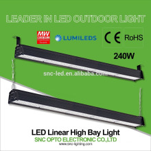 Dispositivo elétrico de iluminação industrial, 4 pés, luz highbay linear do diodo emissor de luz 240w