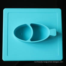 Hot Sale Safety Antiskid Silicone Baby Dinner Tray