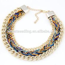 Collar caliente del collar del collar de la cadena de cadena hecha a mano caliente