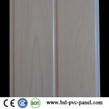 Panneau en PVC laminé en bois blanc à rainures en bois de 20 cm