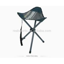 Triângulo pequena cadeira dobrável ao ar livre fácil de transportar / cadeira de acampamento portátil / fezes ao ar livre
