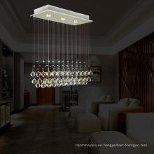 3 luces mini vestíbulo lámpara colgante de cristal LED iluminación decorativa montaje