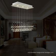 3 Lights Mini Hallway Crystal Hanging Lamp LED Decorative Lighting Fitting