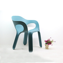 Outdoor Armrest Stacking Plastic Lounge Easy Chair
