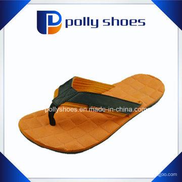 Новый Мужской печать оранжевый серый флип-флоп сандалии