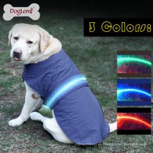 Roupas de animal de estimação de Inverno de capa de chuva de casaco de colete de cachorro de segurança LED