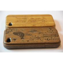 Gravieren Gras Stil Holz Mobile Cover