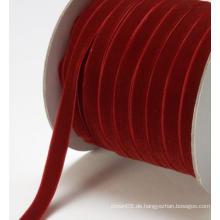Chocker-Halskette aus Samt mit rotem gewebtem Band