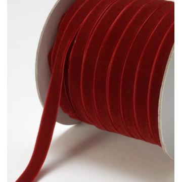 Chocker Halskette Samt rot gewebtes Band