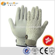 SUNNYHOPE gants de travail résistant à la coupure avec revêtement PU