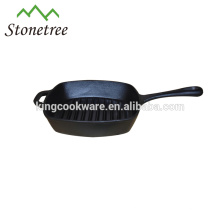 Round Cast Iron Non-Stick BBQ Grill Pan
