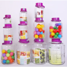 Frasco de vidrio de grado alimentario Frasco de almacenamiento de alimentos
