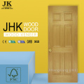 JHK-006 Natural Sepele 6 Panel Wood Grain HDF Interior Door