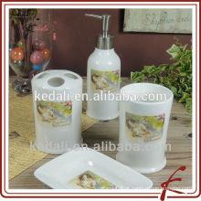 Acessórios de casa de banho em cerâmica de cerâmica 4pcs para casa
