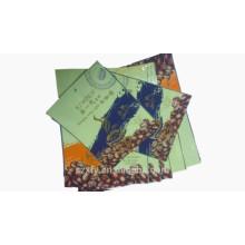 Saco de plástico laminado para a embalagem de grãos de café