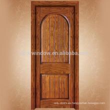 Instalar fácilmente la puerta de madera moderna de diseño de la puerta principal de una sola puerta para vender
