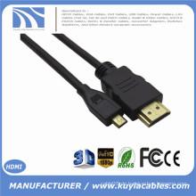 NAGELNEUE 1.4V Mikro-HDMI Mann zum männlichen Kabel 1ft 3ft 5ft 6ft 8ft 10ft für 4G HTC SPRINT EVO bewegliche Kamera