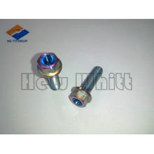 M6 titanium hex flange bolt GR5