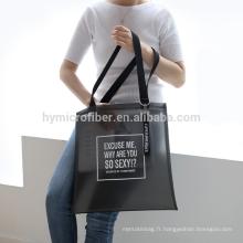 Sac fourre-tout en nylon imprimé par logo de mode de sac de cadeau