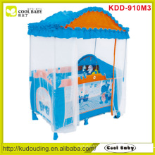 Factory Wholesale Baby Playpens with Deluxe High-roof Mosquito Net