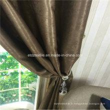 Tissu de rideau antidérapant en polyester 100% le plus vendu en 2015