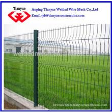 Deux clôtures soudées en treillis métallique (1,5 m de haut)