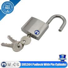 Stainless Steel Pin Tumbler Double Locking Padlock
