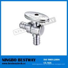 Válvula de detención de ángulo de Pex de manija moleteada ovalada de latón (BW-A54)