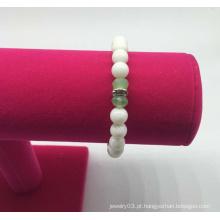 Contas de pérola de vidro pulseira de diamante (xbl13554)