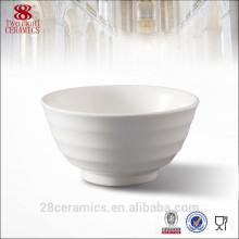 Bol rond de soupe en céramique blanche de lait pour l'hôtel, bol japonais