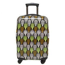 ABS & PC Printing Luggage Set Aluminum Troli