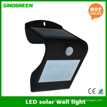 Lámpara de pared solar LED Solar inteligente y LED de pared LED de sensor
