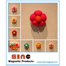 Muiticolor Blumenknospen-Kühlschrank-Magnet mit Stock-Haken