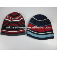 boys stripe knitted beanie hat
