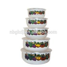 Restaurant 5 pièces bols en émail pour importateur en gros