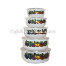 Restaurant 5 pc enamel bowls for wholesale importer