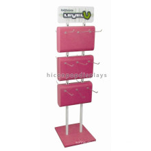 Novel Double Sided Metal Hook Hanging Flooring Wooden Display Retail Insulating Gloves Rack