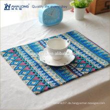 Böhmen Stil Baumwolle China Morden Design Tischplatte Matte für Großhandel