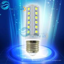 Led 5050smd luz de maíz 5w AC220v 90-260v e27 e14 20lm igual a 40W lámpara incandescente o 15W lámpara fluorescente