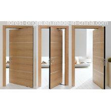 Sistema elegante de la puerta rasante de madera de la chapa interior