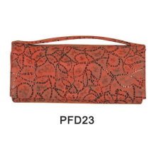 Canvas red print makeup hand case