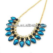 Estilo americano grande colares jóias