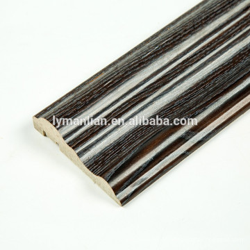 Melamine Paper wood skirting crown moulding wooden beads